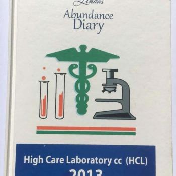 2013 High Care Laboratory Abundance Diary - Hard Cover