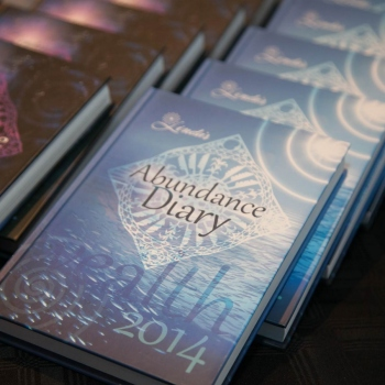 2014 Abundance Diary - Blue Hard Cover