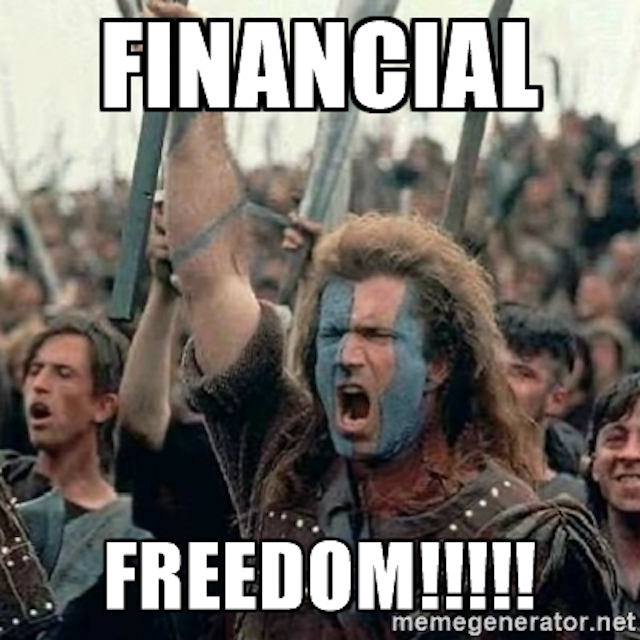 Financial Freedom starts with…