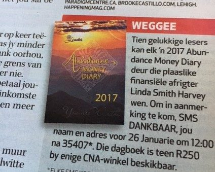 Gratitude Give Away in the latest Huisgenoot Magazine!